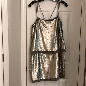 BANANA REPUBLIC NEW Sequin Sphagetti Strap Dress